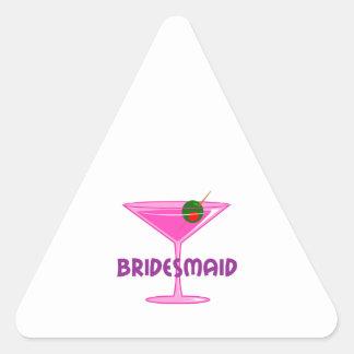 Dama de honor pegatina triangular