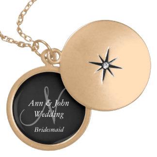 Dama de honor personalizada casando los collares d