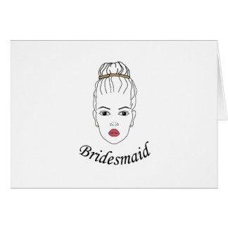 Dama de honor tarjeta de felicitación