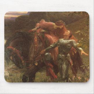 Dama de la belleza del La sin Merci, Dicksee, arte Alfombrilla De Ratón