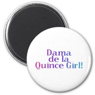 Dama de la Quince Girl 2 Inch Round Magnet