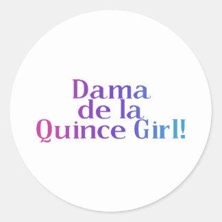 Dama de la Quince Girl Classic Round Sticker
