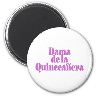 Dama de las Quinceanera 2 Inch Round Magnet