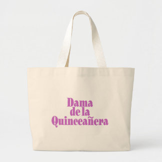 Dama de las Quinceanera Large Tote Bag