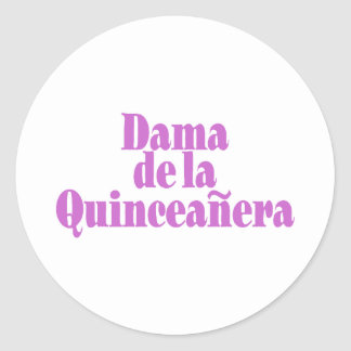 Dama de las Quinceanera Round Sticker
