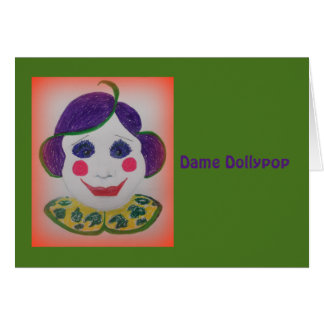 Dama Dollypop Card Tarjeta De Felicitación