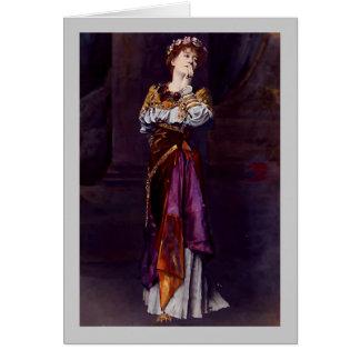 Dama Ellen Terry como Imogen - Alma-Tadema Tarjeta