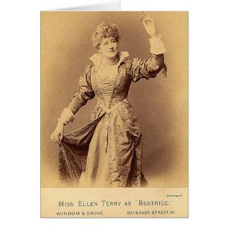 Dama Ellen Terry Tarjeta