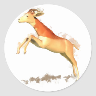 Dama Gazelle Classic Round Sticker