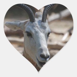 Dama Gazelle Heart Sticker