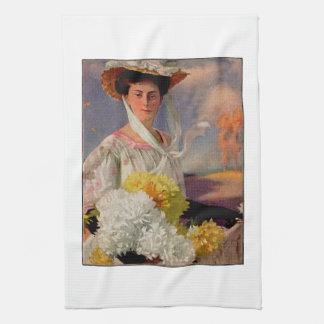 Dama magnífica toalla de cocina