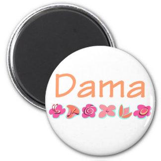 Dama (peach color) 2 inch round magnet