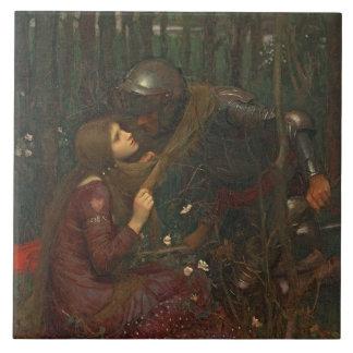 Dama Sans Merci, 1893 de la belleza del La (aceite Azulejo