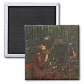 Dama Sans Merci, 1893 de la belleza del La (aceite Imán Cuadrado