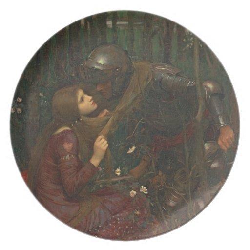 Dama Sans Merci, 1893 de la belleza del La (aceite Platos