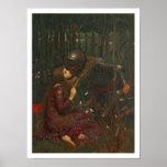 Dama Sans Merci, 1893 de la belleza del La (aceite Póster