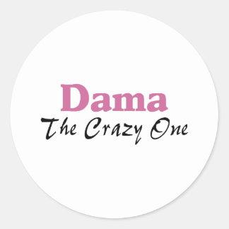 Dama The Crazy One Classic Round Sticker