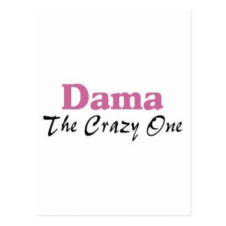 Dama The Crazy One Postcard