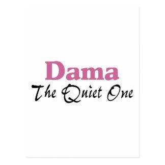 Dama The Quiet One Postcard