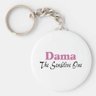 Dama The Sensitive One Basic Round Button Keychain