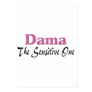 Dama The Sensitive One Postcard
