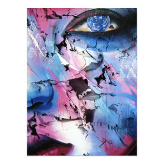DAMAGED ~ (abstract art) ~ 6.5x8.75 Paper Invitation Card