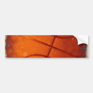Damaged Basketball Photo Bumper Sticker