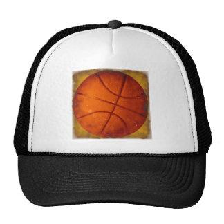 Damaged Basketball Photo Trucker Hats