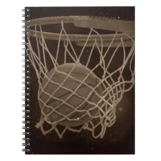 Damaged Basketball Photo Notebook