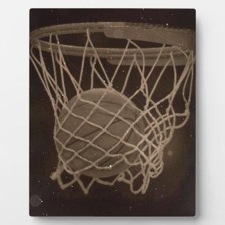 Damaged Basketball Photo Plaque