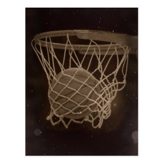 Damaged Basketball Photo Postcard