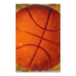 Damaged Basketball Photo Stationery