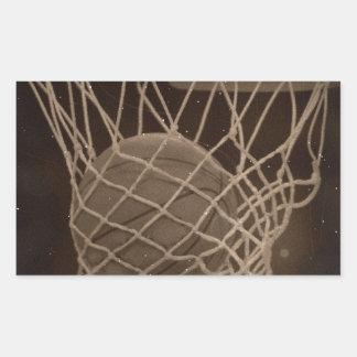 Damaged Basketball Photo Sticker