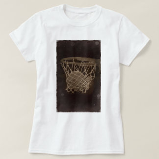 Damaged Basketball Photo Tee Shirts