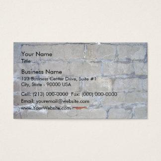 Damaged Gray Brick Wall Business Card