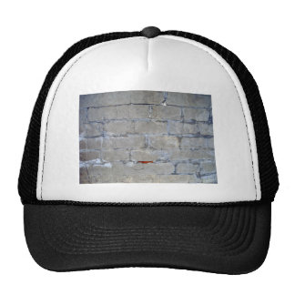 Damaged Gray Brick Wall Trucker Hat