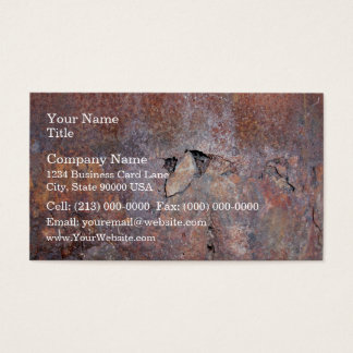 Damaged metal plate with rust texture business card