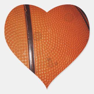 Damaged Photo Effect Basketball Heart Sticker