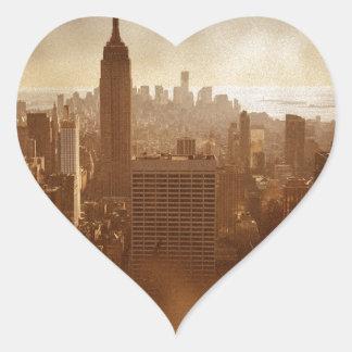 Damaged Photo Effect New York Heart Sticker