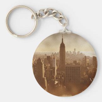 Damaged Photo Effect New York Keychain