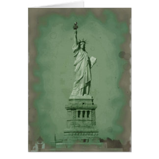 Damaged Photo Effect Statue of Liberty Card