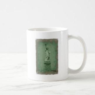 Damaged Photo Effect Statue of Liberty Mugs