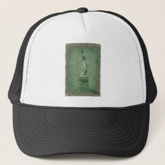 Damaged Photo Effect Statue of Liberty Trucker Hat
