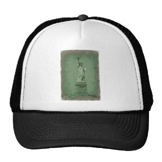 Damaged Photo Effect Statue of Liberty Trucker Hat
