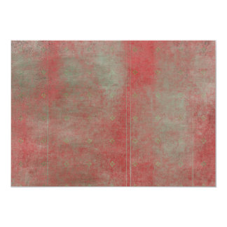 Damaged Red Pattern Grungy Background 5x7 Paper Invitation Card