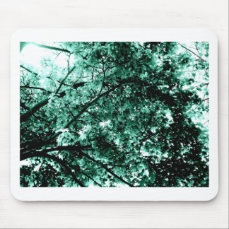 'Damaged' Tree Cyan Blue Mouse Pad