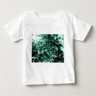 'Damaged' Tree Cyan Blue Shirt