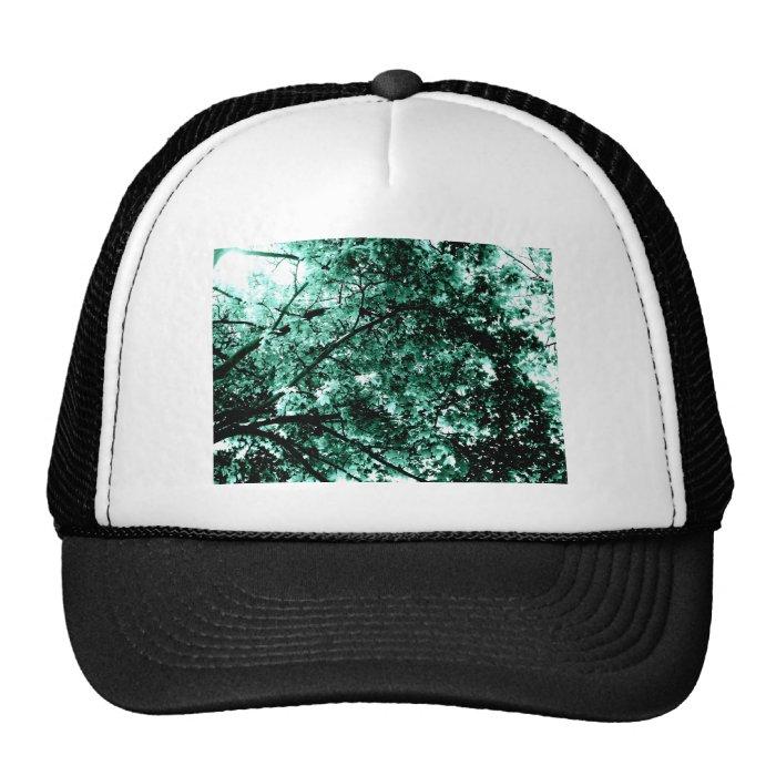 'Damaged' Tree Cyan Blue Trucker Hat