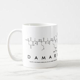 Damari peptide name mug basic white mug
