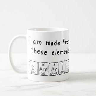 Damaris periodic table name mug
